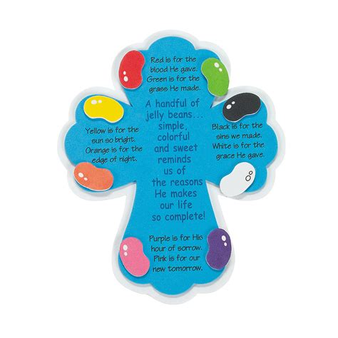 Jelly Bean Prayer Magnets Craft Kit   Oriental Trading