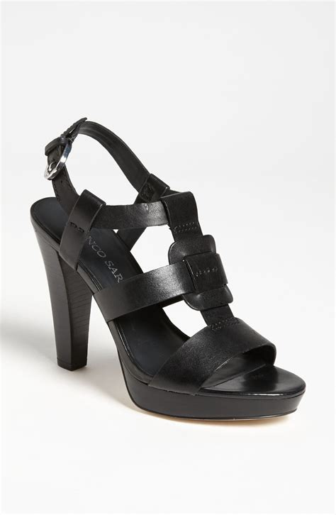 franco sarto black sandals franco sarto betsy sandal in black black leather lyst