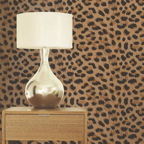 cheetah print wallpaper for bedroom leopard print wallpaper gold brown pattern bedroom