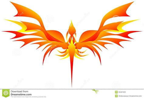 stylized phoenix stock image image of artwork black