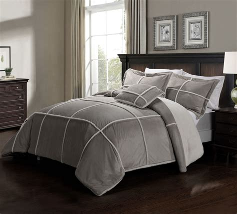 gray comforter king the gallery for gt light grey bedding