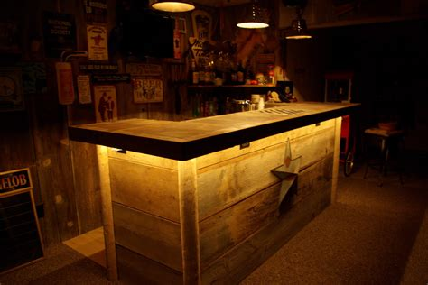 basement bar tops reclaimed rustics barn wood bar