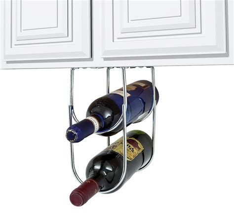 under cabinet wine bottle and glass rack wine rack under cabinet double bottle wine holder sorbus