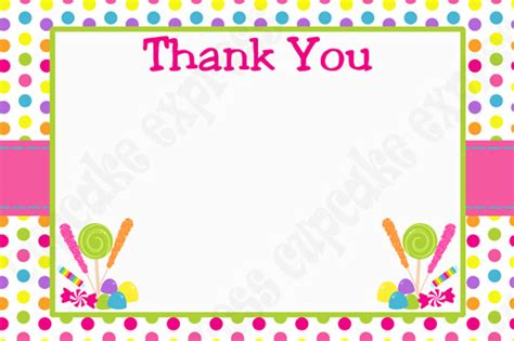 Thank You Letter Border Template Printable Birthday Supplies And Decorations All Page 6