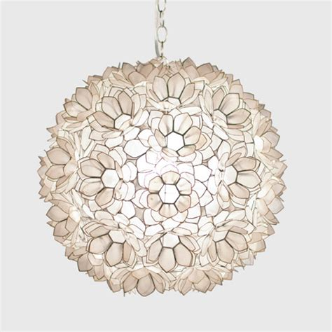 Shell Pendant Lighting Worlds Away Capiz Shell Floral Jupiter Pendant Asian Pendant Lighting New York By