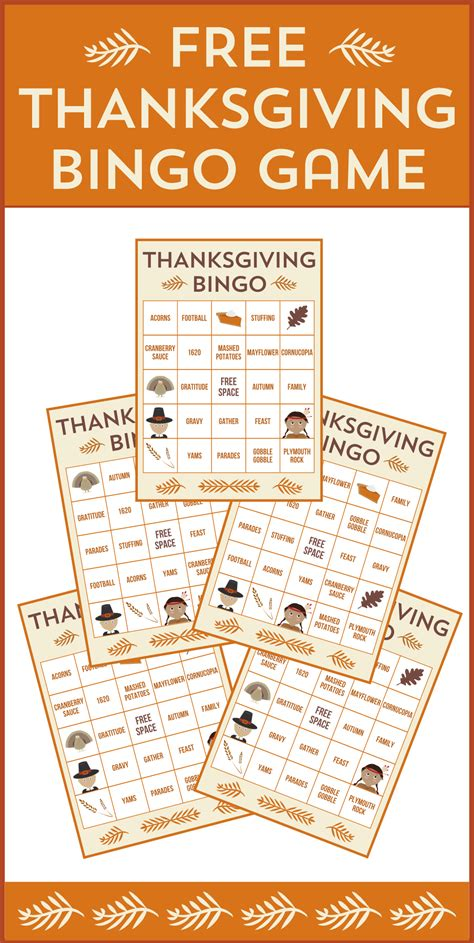 printable thanksgiving bingo cards free free printable thanksgiving bingo cards catch my party