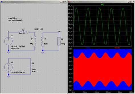 ltspice inductor simulation ltspice inductor flux 28 images utilisation de ltspice l inductor simple model of