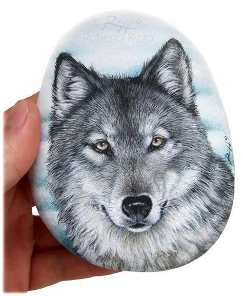 lade lupo lupo acrilico su pietra cm 13 rocks