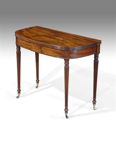 antique tea table card table demi lune table d shaped
