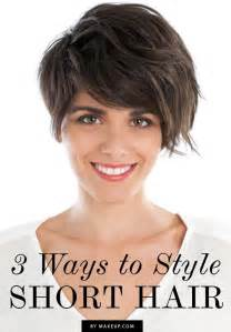 different fixing hairstyles 3 ways to style short hair weddbook