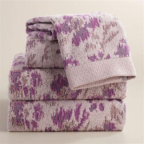 lavender bath towels lavender ikat floral ilaria jacquard bath towel world market