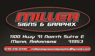 graphix signs and design miller signs and graphix mena ar 71953 479 216 6140