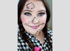 Halloween Gesichter schminken - 30 einfache Beispiele mit ... Girl Scarecrow Costume