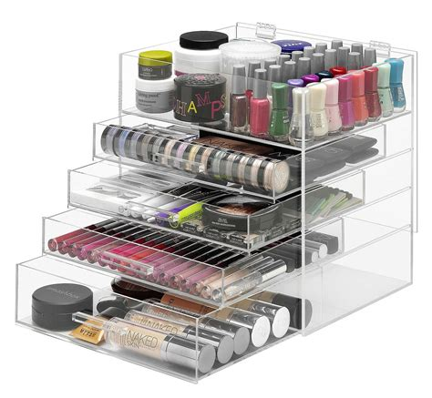 amazon organizer clear makeup organizer mycosmeticorganizer com