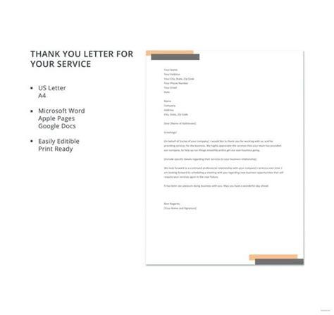 service letter templates premium