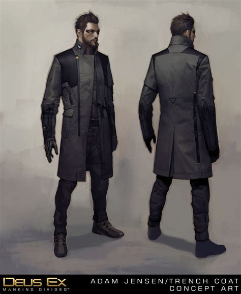 Vest Hoodie Deus Ex Mankind Divided adam s new coat by benef on deviantart
