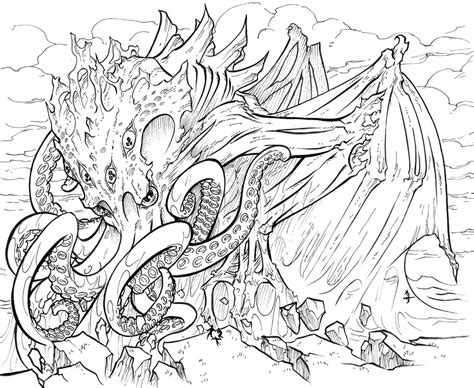 coloring books for adults reddit commission cthulhu by meluran on deviantart