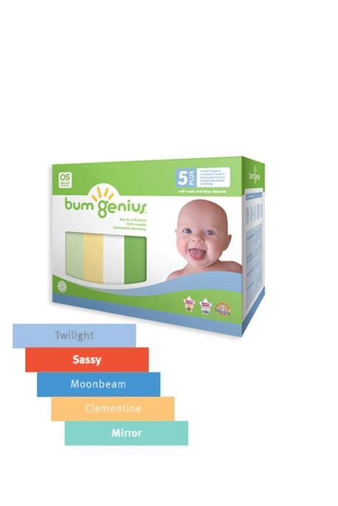 bumgenius colors bumgenius 5 pack 4 0 one size stay cloth snap