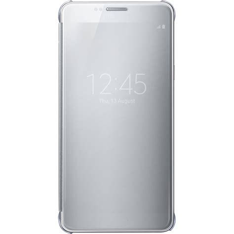 Flip Cover Clear S View Samsung Note 5 Mirorr samsung s view flip cover for galaxy note 5 ef zn920csegus b h