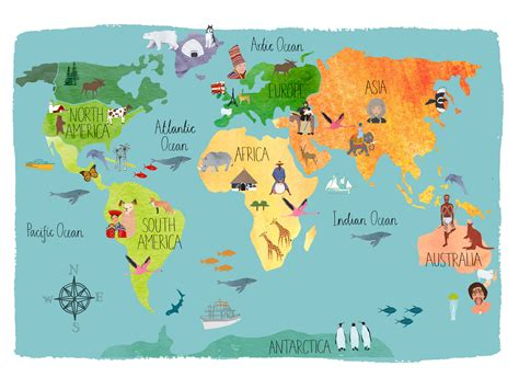 illustration of world map with country name pearson world map pinteres