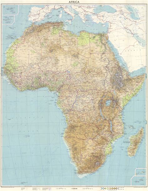 africa map 1960 maps of africa physical map 1960 mapa owje