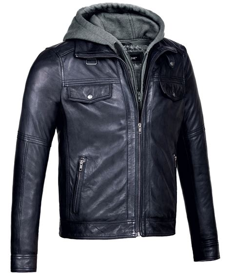 leather jacket mens leather jacket with vintage black bomber