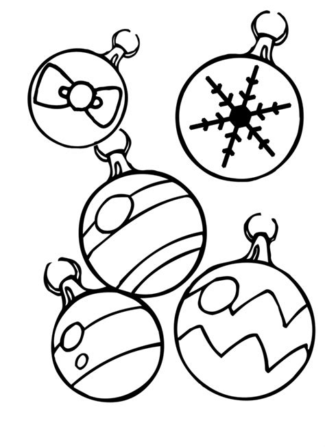 printable christmas decorations to colour ornament coloring pages best coloring pages for