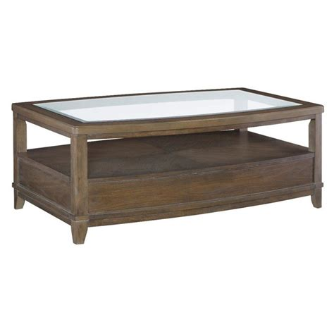American Drew Coffee Table American Drew Park Studio Glass Coffee Table In Taupe 488 910