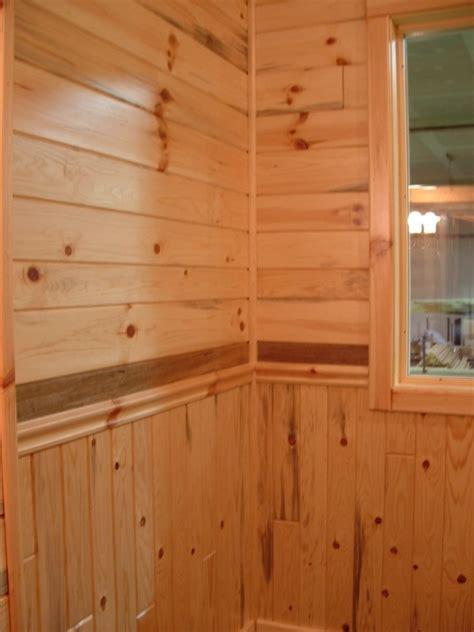 Prefinished Wainscoting Panels Knotty Pine Paneling The Log Home Shoppe The Log Home