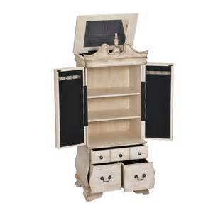 Jewelry Chests Armoires Home Decorators Collection Ivory Jewelry Armoire