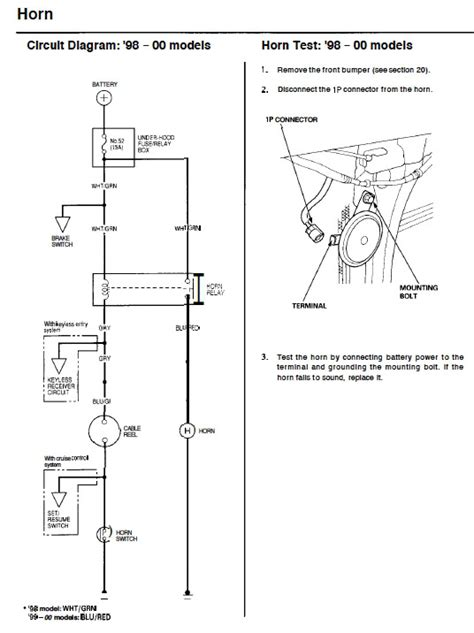 horn wiring diagram for 98 honda civic wiring diagram