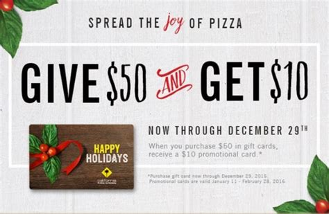 Carrabba S Gift Card Promotion - holiday gift card promotions 2015 save big at local restaurants and retailers