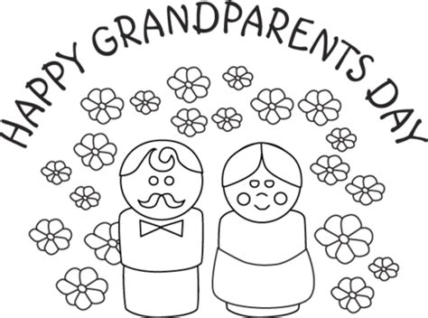 grandparents day coloring pages preschool happy grandparents day coloring page supercoloring com