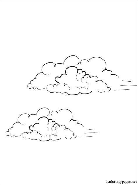 sky coloring page coloring pages