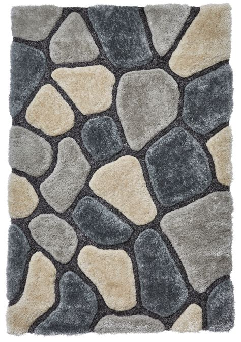 pebble rug grey blue pebble rug shaggy pile noble house soft hand