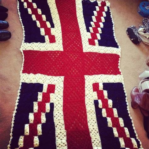 Crochet Pattern Union Jack | hand crocheted large union jack blanket crochet