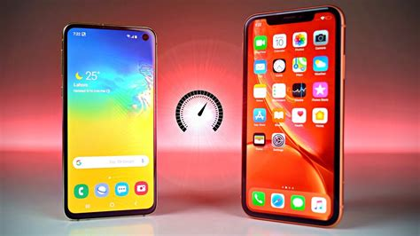 Iphone Xr Vs Samsung Galaxy S10e by Samsung Galaxy S10e Vs Iphone Xr Speed Test