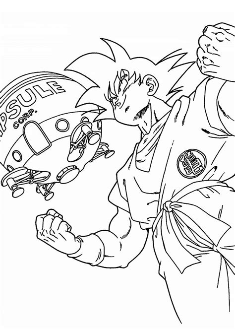 young goku coloring pages goku from dragon ball z coloring pages for kids printable