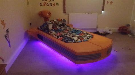 coolest dad builds floating star wars bed platform beds
