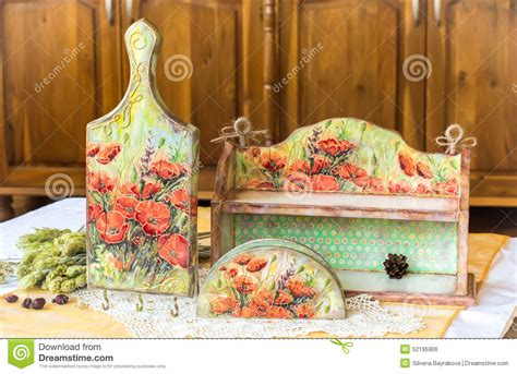 Decoupage Decorating Ideas - decoupage home decor wooden housewares decorated with