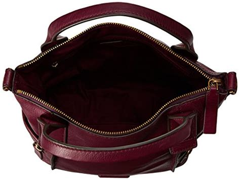 Fossil Emerson Maroon Large 1 fossil emerson medium satchel bag maroon one size