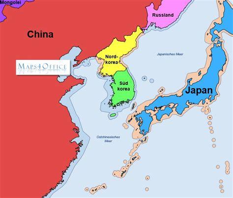 Karet Korea by Landkarte Korea My