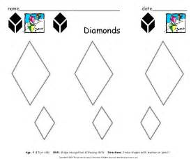 rhombus shape worksheets kindergarten diamond shape