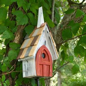 Lighted Decorative Trees Flock Of Ages Chapel Bird House Yard Envy