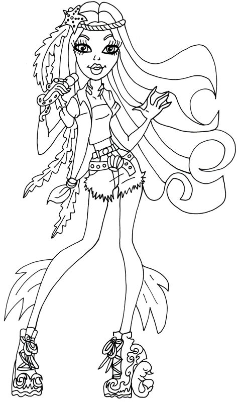 monster high coloring pages that you can print