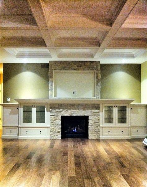 coffered walls 94 best images about entertainment fireplace wall on pinterest