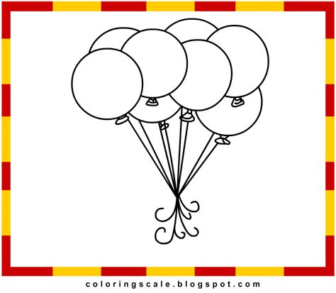 coloring pages printable for kids balloons coloring pages