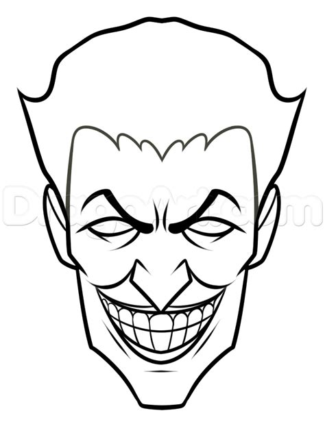 joker coloring pages easy comic book villain drawing lesson the joker step by step