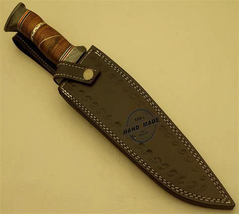 Knife Handmade - professional damascus bowie knife custom handmade damascus
