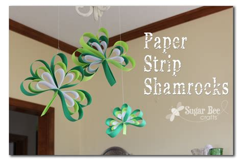 How To Make Paper Shamrocks - paper shamrocks sugar bee crafts